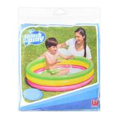 Бассейн детский, 3 надувных кольца (102*25см), (надувное дно), 51104