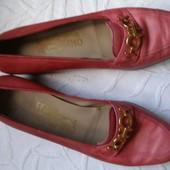 801. Туфли Salvatore Ferragamo Italy кожа. р. 38 (24,5 см)