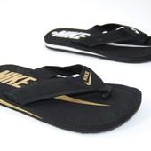 Nike мужские вьетнамки черные 2 цвета