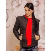 Куртка с шарфиком в расцветках. Размеры: С, М, Л (2с