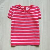 Яркая полосатая футболка для девочки. George. Размер 12-18 месяцев. Состояние: новой вещи