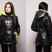 Куртка с капюшоном двубортная. В расцветках. Размеры: 42,44,46,48,50,52 (8