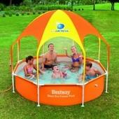 Каркасный бассейн с навесом 56432  размер 244х51 см, 1688 л