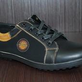 Подростковые туфли полу-спорт черные