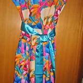 Летние платья с атласным поясом