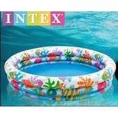Бассейн надувной детский Аквариум Intex 59431 (132х28 см.)