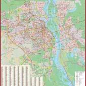 Карта Киева м-б 1:25 000 Большая с улицами и домами Новая