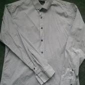 Фирменная  белая рубашка размер S/M