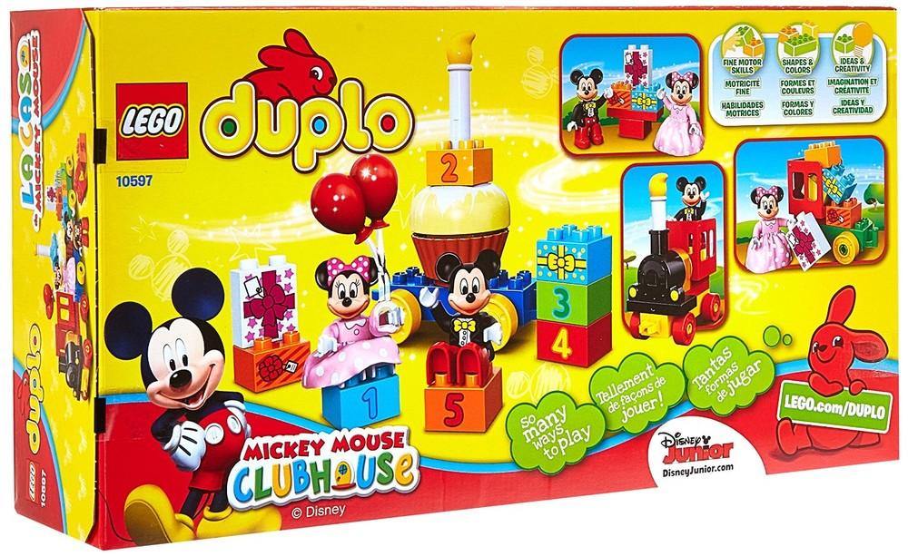 Lego duplo 10597 mickey and minnie birthday конструктор лего день рожденье микки и минни мауса фото №1