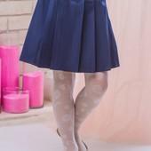 Школьная юбка sh3 (черная и темно-синяя)