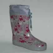 Arial арт.5515-1083 серый Резиновые сапожки для девочек.