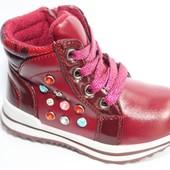 Eebb арт.516  красный Демисезонные ботинки для девочек.
