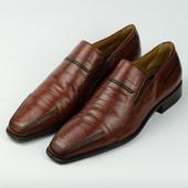 Кожаные туфли Aldo Brue лоферы Распаровка Италия 39-40р.