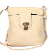 Женская летняя сумка - клатч кремового цвета 918
