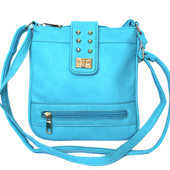 Женская летняя сумка - клатч бирюзовая 915(б)