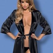 Satinia Obsessive качествыенные красивые халаты с поясами гипюровые вставки