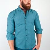 Рубашка в клетку, длинный рукав №36F013 7 цветов