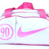 Женская спортивная сумка под Nike белая (302)