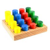 Цветные цилиндры по методике Монтессори. В наличии.