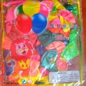 Надувные шарики, микс цветов. 50 шт и 100 шт.