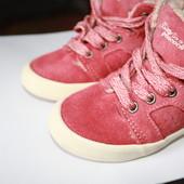 Замшевые ботиночки на меху Zara 21 размер