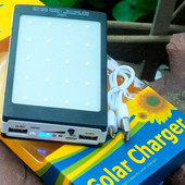 Повербанк с солнечной батареей 15000 мАч.Pover Banr Solar