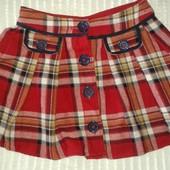 Красивая теплая юбка от I love Next, отлично в школу, на рост 128