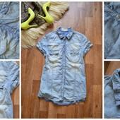 Легкая джинсовая рубашка-блуза,р-р Л-ХЛ
