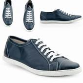 Кожаные спортивные туфли, 44р-29см мужские, синий, Испания