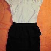 Классическое черно-белое платье