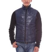 Мужской стеганный жилет серый, черный, синий из плащевки мужская жилетка безрукавка
