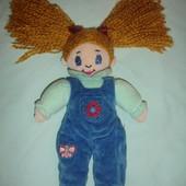 Мягкая симатичная кукла с рыжими волосами 30 см
