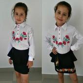 Блузка с вышивкой для девочек
