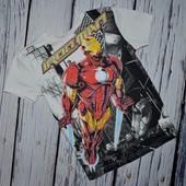Фирменная крутая футболка стильному мальчику 4 - 5 лет 110 см Железный человек Iron Man