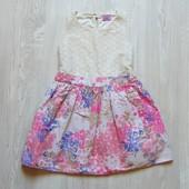 Шикарное нежное платье для изысканной леди. Внутри на подкладке. F&F. Размер 3-4 года