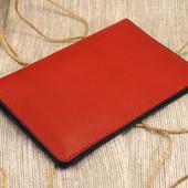 Кожаный чехол для паспорта, карточек и денег Ч-07