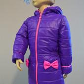 Пальто Бантик деми для девочки, доставка бесплатно