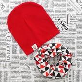 Наборы демисезонные шапка и шарф - хомут