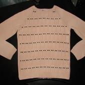 пудровый свитер H&M 6-8 лет 62% коттон состояние отличное