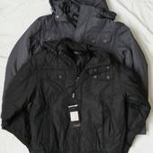 Демисезонная мужская куртка Black Horse, серого и черн.цвета, р-ры 46-56