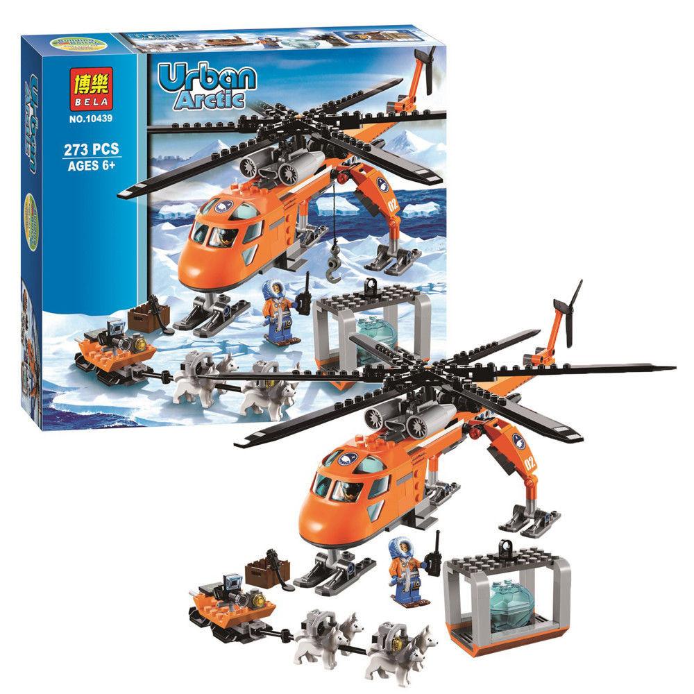 Конструктор bela 10439 арктический вертолёт фото №1