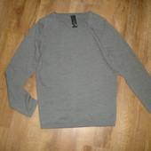 Новый шерстяной свитер Cold Method, размер L 100% шерсть длина 70, ширина под руками 49, рукав от пл