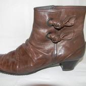 Женские кожаные полусапожки р.38 дл.ст 25см