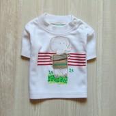 Стильная футболка для мальчика. Baby C. Размер 0-3 месяца. Состояние: новой вещи, не ношенная