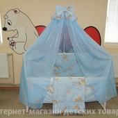 """9 в 1 - комплект постельного белья в детскую кроватку """"Жирафик"""". 2 цвета"""