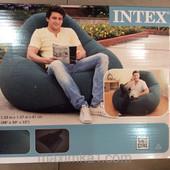 Надувное велюровое кресло Intex 68583