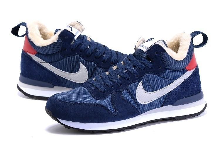 Кроссовки Nike Internationalist Mid Winter на меху, р. 39,40,41,43, черн, син, код mvvk-1154 фото №1