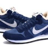 Кроссовки Nike Internationalist Mid Winter на меху, р. 39,40,41,43, черн, син, код mvvk-1154