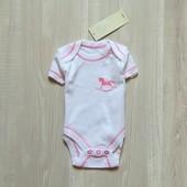 Новый бодик с коротким рукавом для новорожденных. Avenue Baby. Размер 0-1 месяц