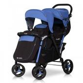 Детская прогулочная коляска для двойни коляска EasyGo Fusion Duo.
